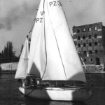 s/y Copernicus - w Gdańsku po powrocie z regat 1974